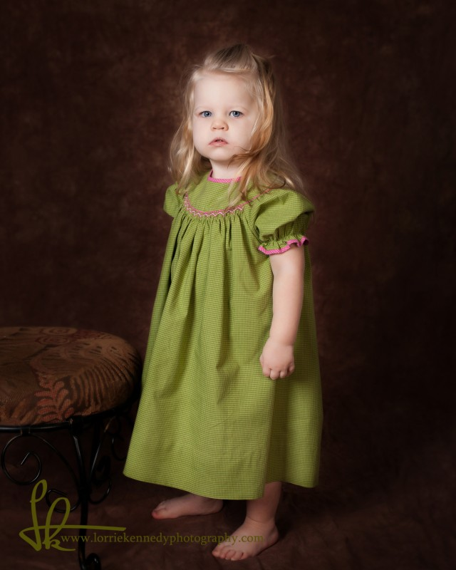 Classic portrait of a beautiful little girl